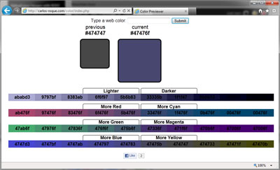 Web Colors Previewer v2.0